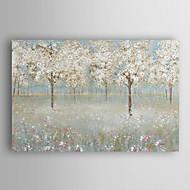 mão pintura a óleo pintado árvore da flor de cerejeira paisagem com moldura esticada arts® 7 parede