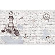 3d efecto de cuero shinny gran mural del papel pintado de la pared de ladrillo y el papel de la pared del arte de la construcción