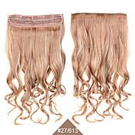 """קליפ 24inch 60 ס""""מ שיער 5 קליפים # 27/613 צבע מעורב 5clips שיער סינטטי שיער מתולתל סינתטי טווה"""