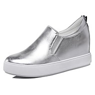Women's Shoes Patent Leather Spring/Fall/Winter Creepers Loafers Athletic/Casual Platform Sparkling Glitter Black/Silver