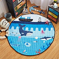 """oceano brinquedos mundo saco de armazenamento de tapete crianças jogo de esteiras de diâmetro 59 """"bebê engatinhando multifuncional rodada"""