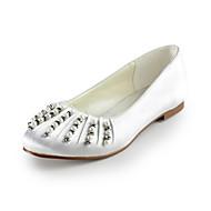 שטוחות-נשים-נעלי חתונה-מעוגל-חתונה / שמלה / מסיבה וערב-שחור / כחול / צהוב / ורוד / סגול / אדום / לבן / כסוף / זהב / בז' / Almond