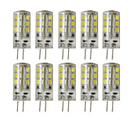 10pcs 2.5W G4 Dimmable LED Bi-pin Lights 24SMD 2835 200-250 lm Warm White/Cool White DC 12V