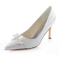 Women's Shoes Stretch Satin Spring /  Fall Heels / Pointed Toe Heels Wedding / Dress Stiletto Heel Satin Flower