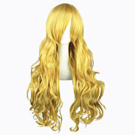 Cosplay Wigs TouHou Project Marisa Kirisame Golden Long Anime Cosplay Wigs 80 CM Heat Resistant Fiber Male / Female