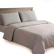 Multicolor Plain Cotton Solid 4PC Duvet Cover Sets