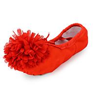 Na míru-Dámské-Taneční boty-Břišní / Balet-Látka-Rovná podrážka-Černá / Modrá / Růžová / Červená / Bílá