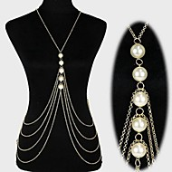 Body Jewelry/Belly Chain Body Chain Imitation Pearl Tassels Gold 1pc