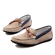 Men's Shoes Leather Casual Clogs & Mules Casual Walking Low Heel Others Blue / Brown / Yellow