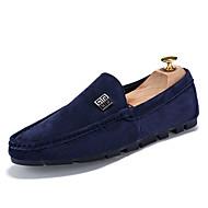 נעליים ללא שרוכים גברים של נעליים משרד ועבודה / קז'ואל / מסיבה וערב סוויד שחור / כחול / אפור / חאקי