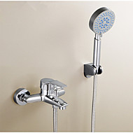 Lifting Sprinkler Suits, Including Copper Hot And Cold Shower Faucet, Multifunctional Five Shower Nozzle