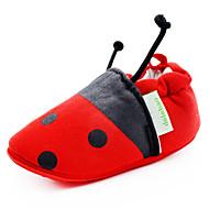 Garçon / Fille-Extérieure / Décontracté-RougePremières Chaussures / Chausson de Berceau-Ballerines-Tissu