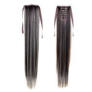 """22 """"(55 ס""""מ) 100 גרם קוקיות סרט סינתטי זנב ארוך וישר # 4/613 קליפ צבע מעורב תוספות שיער הקוקו"""