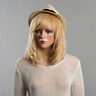 Femme Perruques capless à cheveux humains Noir de jais 27/613 10/613 30/613 Mi Longue Raide Coupe Carré Avec Frange