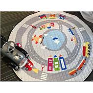 børn pull reb cirkulære tegneserie tæppe fuld opbevaring gamepad kravle pad picnic mat