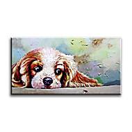 Ručně malované Zvíře evropský styl / Moderní / Klasický / Tradiční / Realismus / Středomoří / Pastýřský,Jeden panel PlátnoHang-malované