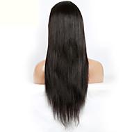 brasileiro virgem 10-26inch cabelo humano em estoque glueless peruca cheia do laço para as mulheres negras com cabelo do bebê