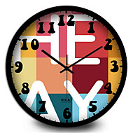 Rund Moderne / Nutidig Wall Clock,Andre Metall 30*30*7