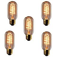 5pcs T45 E27 lâmpadas incandescentes 40W antigas lâmpadas retro Edison do vintage (220-240V)