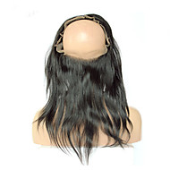 360 Frontal Band Straight Peruvian Virgin Hair 6A Full 360 Lace Band Frontal Closure With Baby Hair