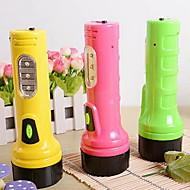 Large Rechargeable Plastic LED Flashlight (Random Colors)