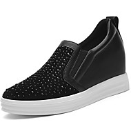 Women's Shoes Synthetic Spring / Summer /Fall/Winter Creepers Flats Athletic/Casual Platform Rivet Black/Taupe