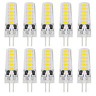 2W G4 LED Bi-pin světla T 12 SMD 5733 180 lm Teplá bílá / Chladná bílá Ozdobné DC 24 V 10 ks