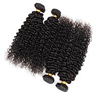 """4 Pcs/Lot 8""""-30"""" Malaysian Kinky Curly Weave Hair Natural Black Unprocessed Virgin Hair Extensions 400G/Lot"""