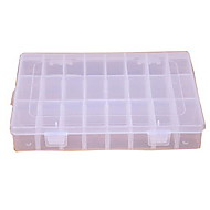 Transparent Shatterproof 24 Grids Plastic Storage Box