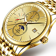 Carnival® Fiesta Automatic Mechanical Watch Men Watch Stainless Steel Gold Stylish Waterproof Male Table Luminous Quality