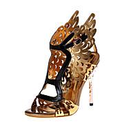 Sandály-Nappa Leather Lakovaná kůže Kůže-Pohodlné Novinky S páskem Gladiátorské Kotníkový pásek-Dámské-Zlatá-Outdoor Kancelář Šaty Běžné-