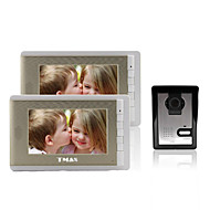 """TMAX® 7"""" LCD Photographing Video Door Phone with 500TVL Night Vision Camera (1Camera to 2Monitors)"""