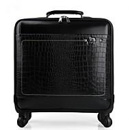 Unisex PU Outdoor Luggage Black