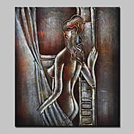 Ручная роспись Телесный Вертикальная,Modern 1 панель Холст Hang-роспись маслом For Украшение дома