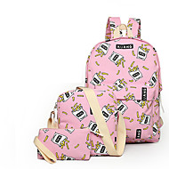 Women Canvas Sports / Casual / Shopping / Outdoor Backpack White / Pink / Yellow / Black