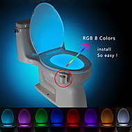 brelong Bewegung aktiviert Toilette Nachtlicht, LED-Bad Waschraum Toilette Licht