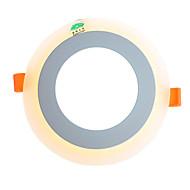 Zweihnder  LED Panel Downlight 6W+3W 3 Model LED Lamp Panel Light Double Color LED Ceiling