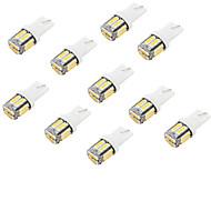 youoklight® 10pcs T10 5w 400lm 10-smd7020 6000k белый свет свет водить автомобиль лампа (12v)
