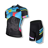 SPAKCT Şortlu Bisiklet Forması Erkek Kısa Kol Bisiklet Forma Şort Giysi SetleriHızlı Kuruma Anatomik Tasarım Yüksek Hava Alımı (>15,001g)