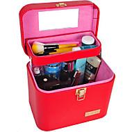 Damen PU Gewerbliche Verwendungen Kosmetik Tasche Rosa / Rot / Schwarz