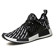 Running Shoes Men's Shoes Fabric / Tulle Outdoor / Casual Flats Outdoor / Casual Walking Flat Heel Others / Lace-up Black /