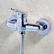 עכשווי / מודרני מקלחת בלבד spary Wide with  שסתום קרמי שני חורי ידית אחת for  כרום , ברז למקלחת