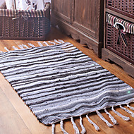 "MultiColor Stripe Rag Cotton Rugs for Kitchen, Bathroom, Entry Way, Laundry Room 27.5""*47""(70*120CM)"