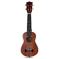 21 polegadas soprano pequena guitarra quatro cordas instrumento sapele 15 trastes gravação a laser de pau-rosa