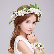 Flower Girl's Foam Headpiece-Wedding / Special Occasion Flowers 2 Pieces(1 Headpiece and 1 Wrist)