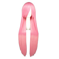 Cosplay Wigs Kuroko no Basket Amu Hinamori Pink Long Anime Cosplay Wigs 100 CM Heat Resistant Fiber Male / Female