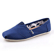 Women's/Men's/Lovers' Shoes Canvas Flat Heel Comfort / Pointed Toe Loafers Outdoor / Athletic / Casual Black / Blue