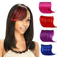 capless Clip gerade synthetische Haarteile Seite bang Multifarben