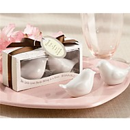 Personalised Tag Recipient Gifts - 100Box/Set - Love Birds Salt and Pepper Shakers Wedding Favors, Beter Gifts®