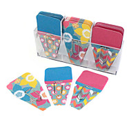 Decorated Clip Tabs / Pin / Labels Cute / Business / Multifunction,Paper / Flower Blue Pink